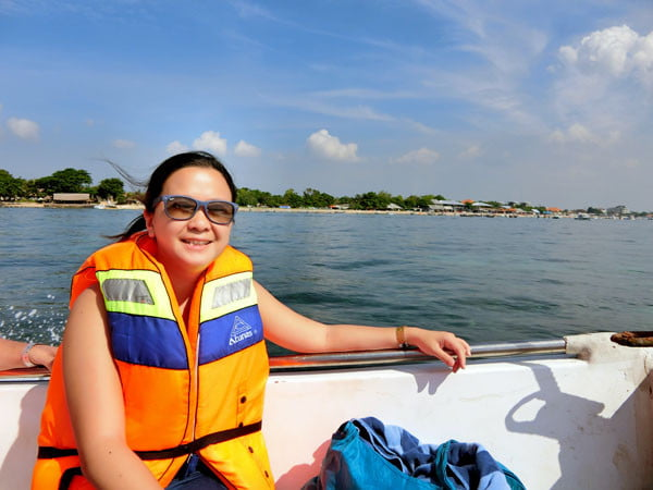 Bali Grand Mirage Resort Seawalker Boat Portrait