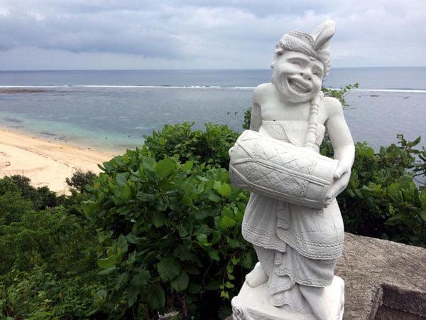 Bali Samabe Beach Stairs Statue
