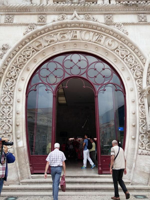 Portugal - Lisbon Rossio Train Station Door