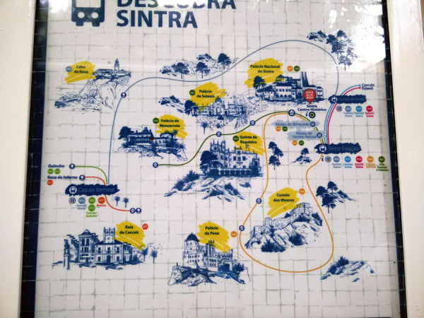 Portugal - Sintra Bus Map