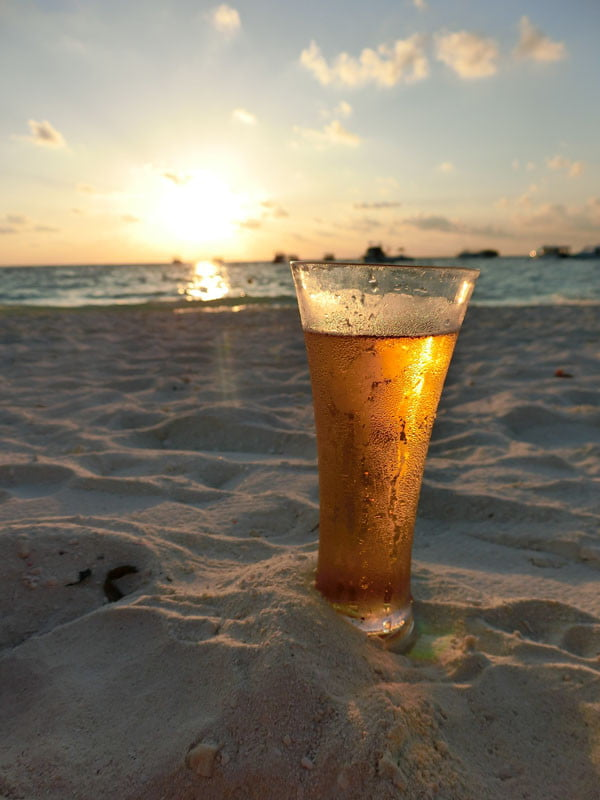 Club Med Kani Maldives Beach Beer