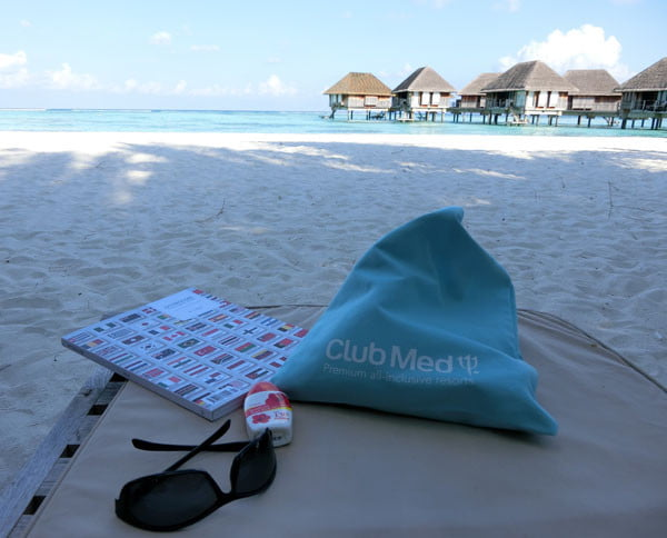 Club Med Kani Maldives Beach Lounging Stuff