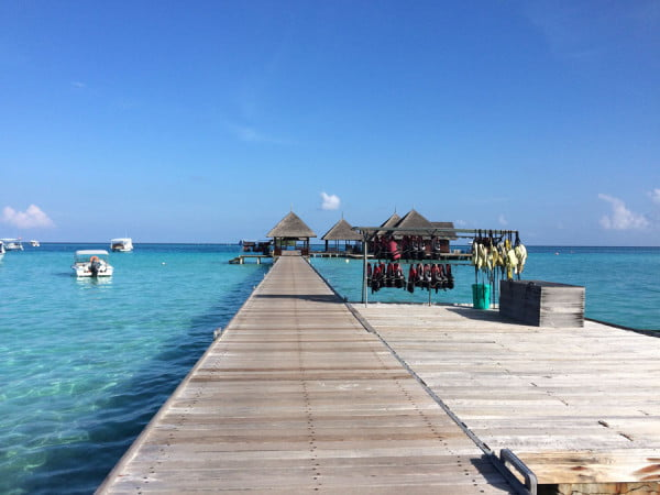 Club Med Kani Maldives Jetty boardwalk gear