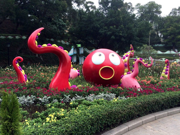 Macau Taipa Flower Garden Octopus