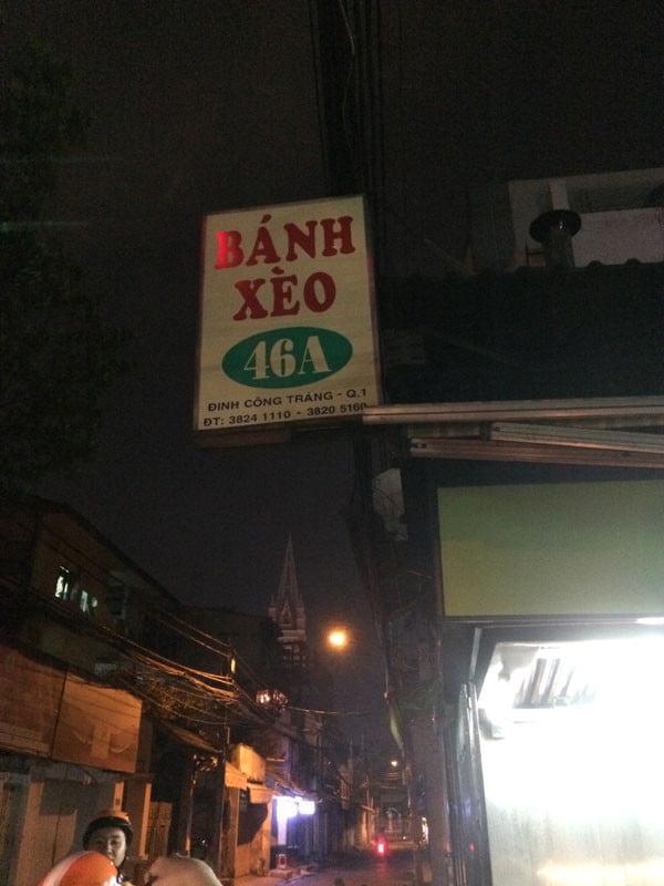 Vietnam Ho Chi Minh Vespa Banh Xeo sign