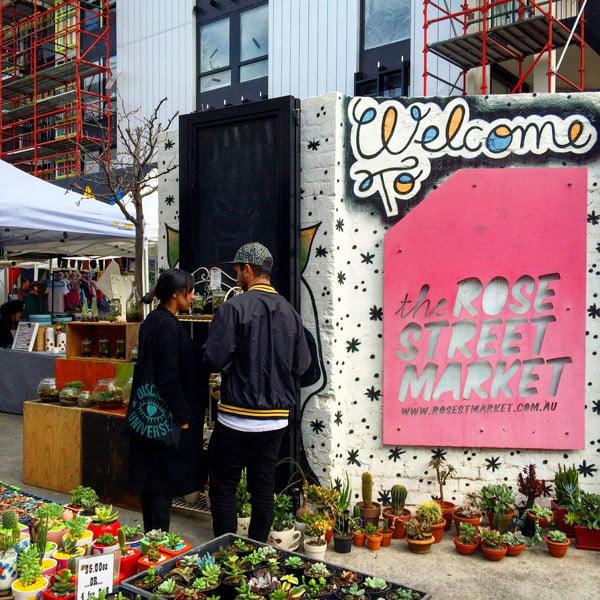 Melbourne Rose Street Market Entrance