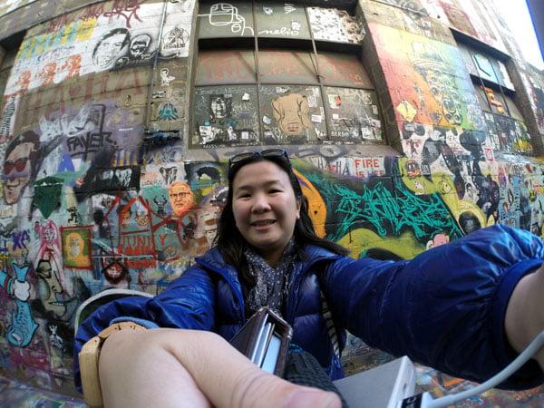Melbourne Street Art Selfie GoPro