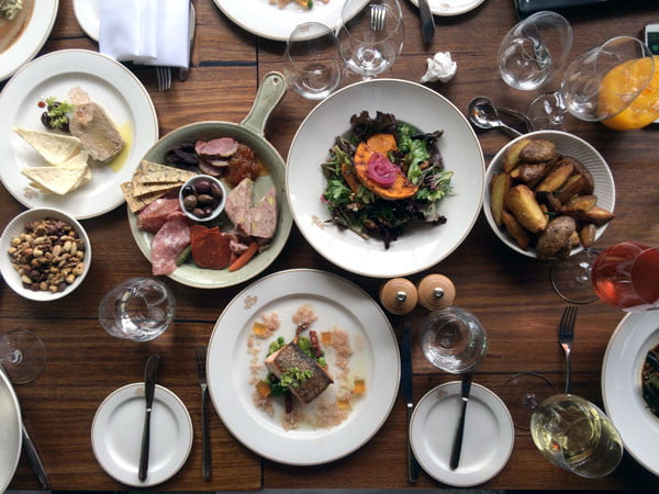 Melbourne Yarra Valley Coombe Lunch Flatlay