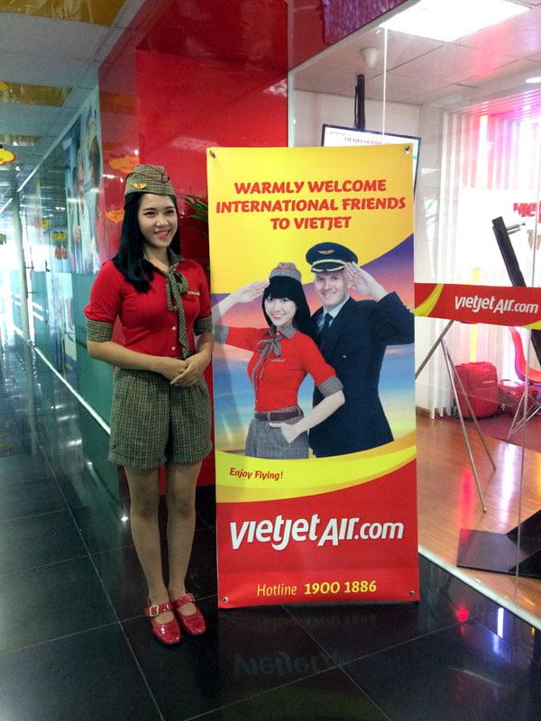 Vietnam Ho Chi Minh VietJetAir Stewardess