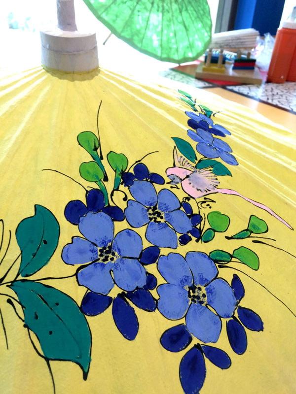 Phuket Moevenpick Resort Parasol Painting Detail