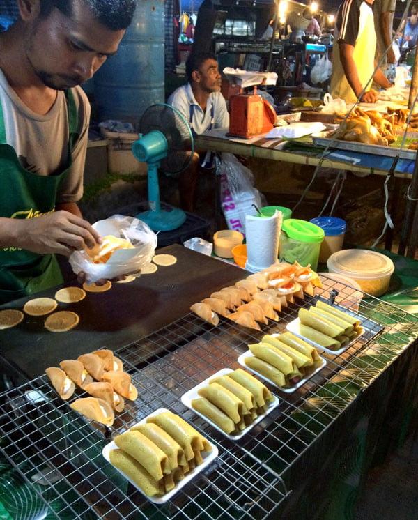 Phuket Wat Suwankiriket Market Food