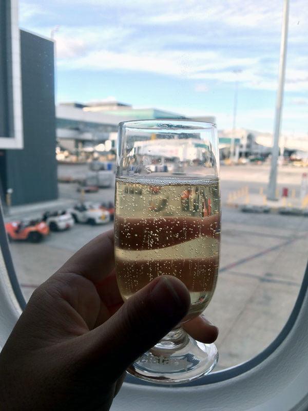 Jetstar Melbourne Champagne Window