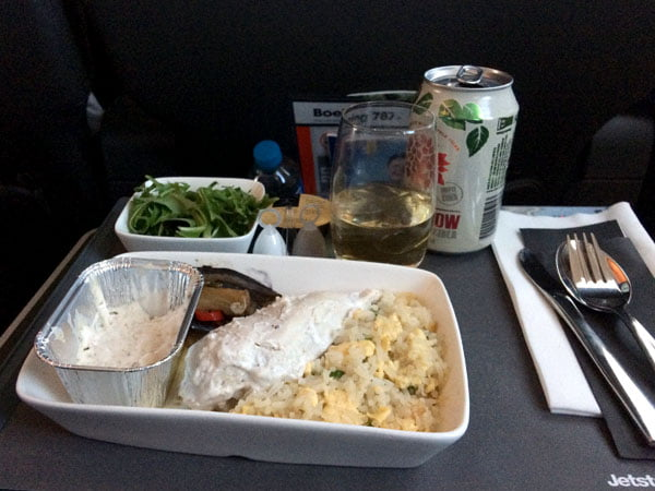 Jetstar Melbourne Food Chicken