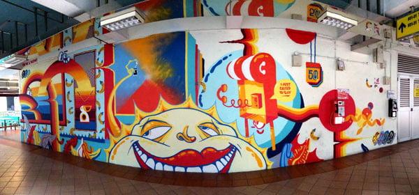 Singapore Street Art - Bras Basah Complex Sheryo Yok