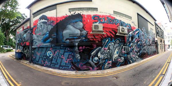 Singapore Street Art - Substation Side Wall RSCLS