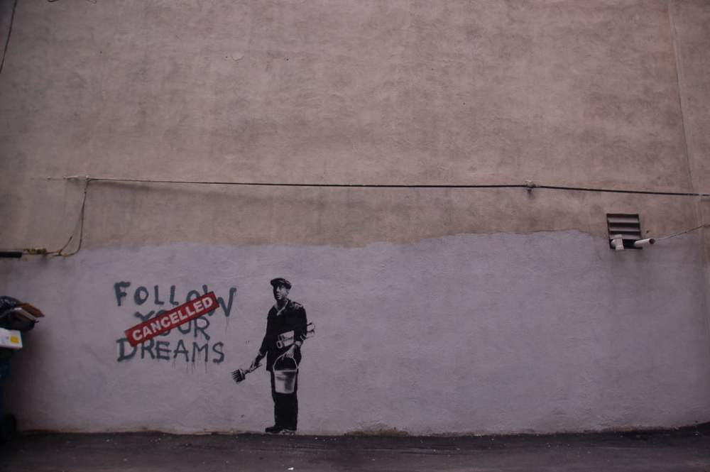 Banksy Follow Your Dreams Cancelled ChrisDevers