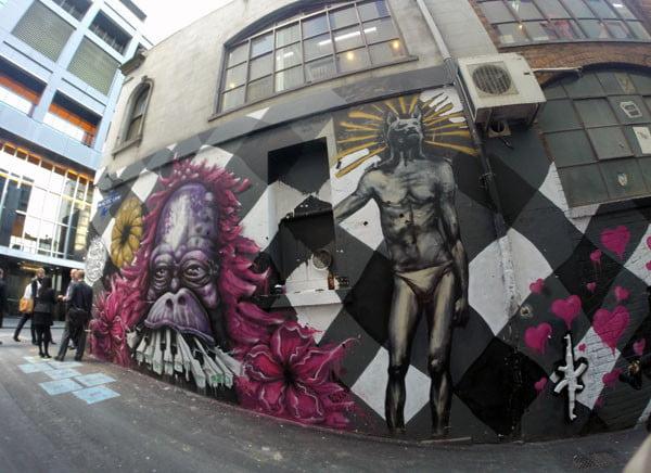 Melbourne Street Art ACDC Lane Entrance