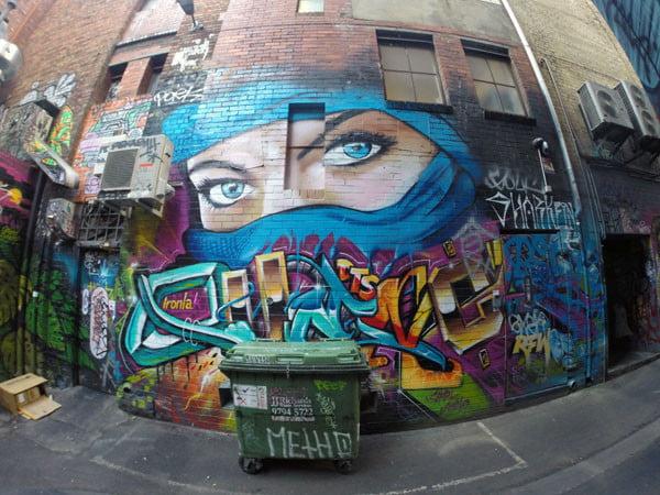 Melbourne Street Art - Croft Alley Eyes
