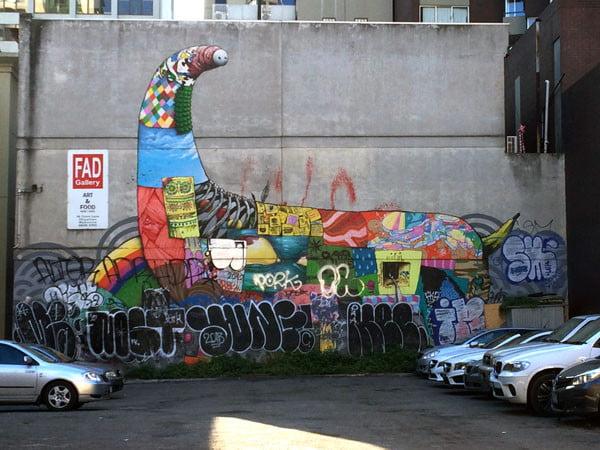 Melbourne Street Art - Fad Gallery Creature