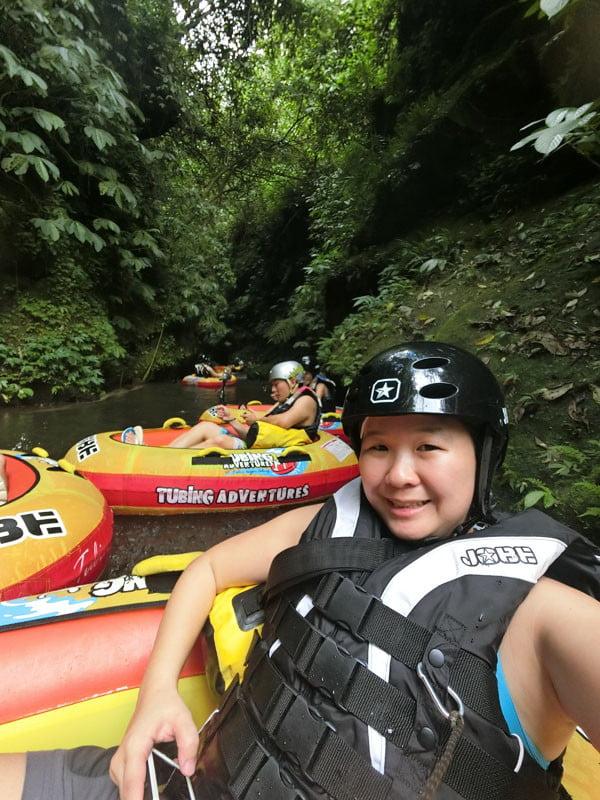 Bali Casio Canyon Tubing Selfie