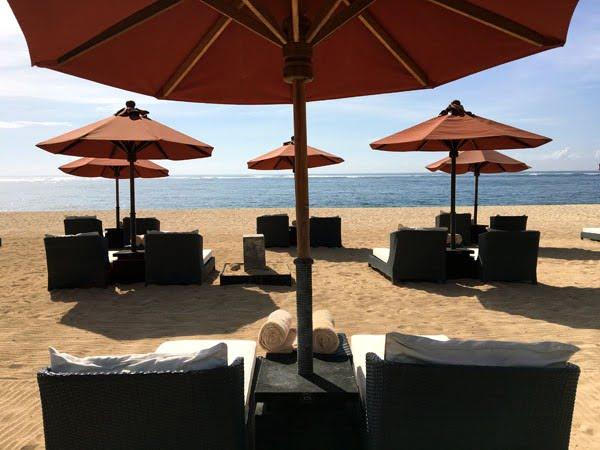 Bali St Regis Beach Deckchairs