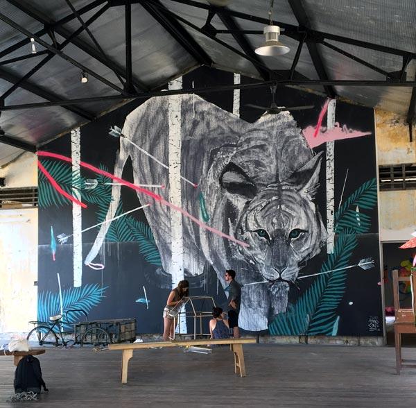 Penang Street Art - Hin Bus Depot TwoOne Tiger