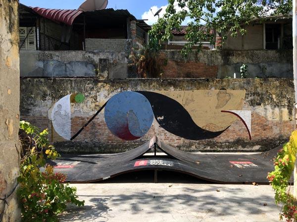 Penang Street Art - Hin Bus Depot YES