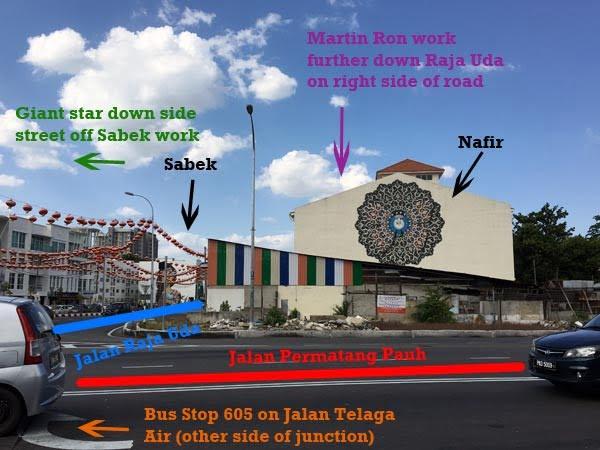Penang Street Art - Raja Uda Wayfinding