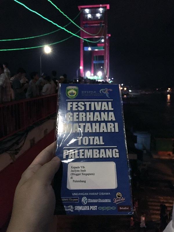 South Sumatra Palembang Eclipse Bridge Pass Dark