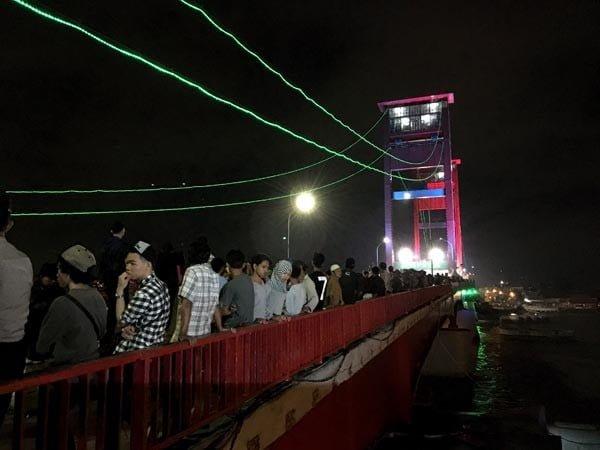 South Sumatra Palembang Eclipse Bridge Stairs