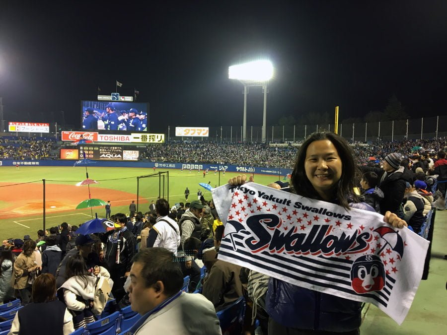 Watching Baseball in Tokyo – Go Go Swallows!