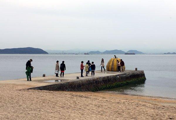 Naoshima - Benesse Yayoi Yellow Pumpkin