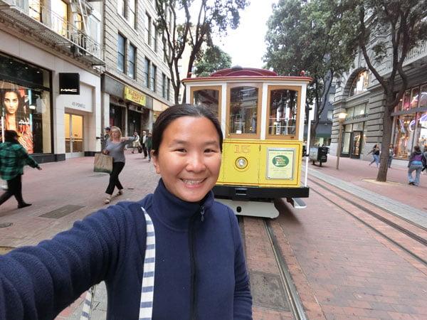 San Francisco - Cable Car selfie