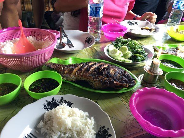 South Sumatra Ranau Lake Fried Fish meal
