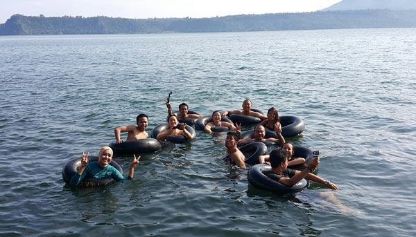 South Sumatra Ranau Lake Hot Spring Tubes
