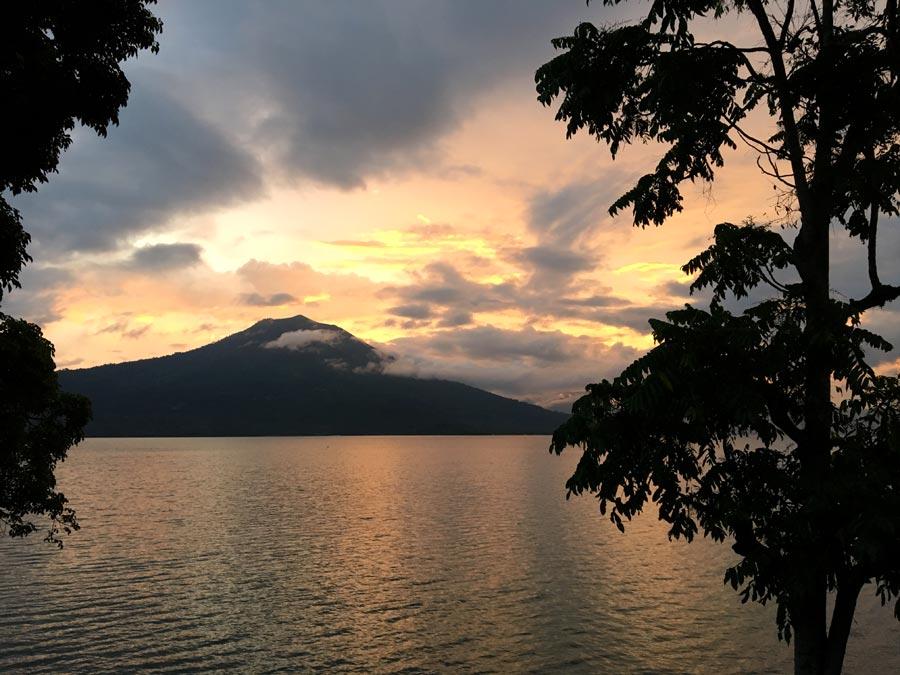 South Sumatra Ranau Lake Sunset