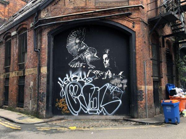 Manchester Street Art TankPetrol Bird Black