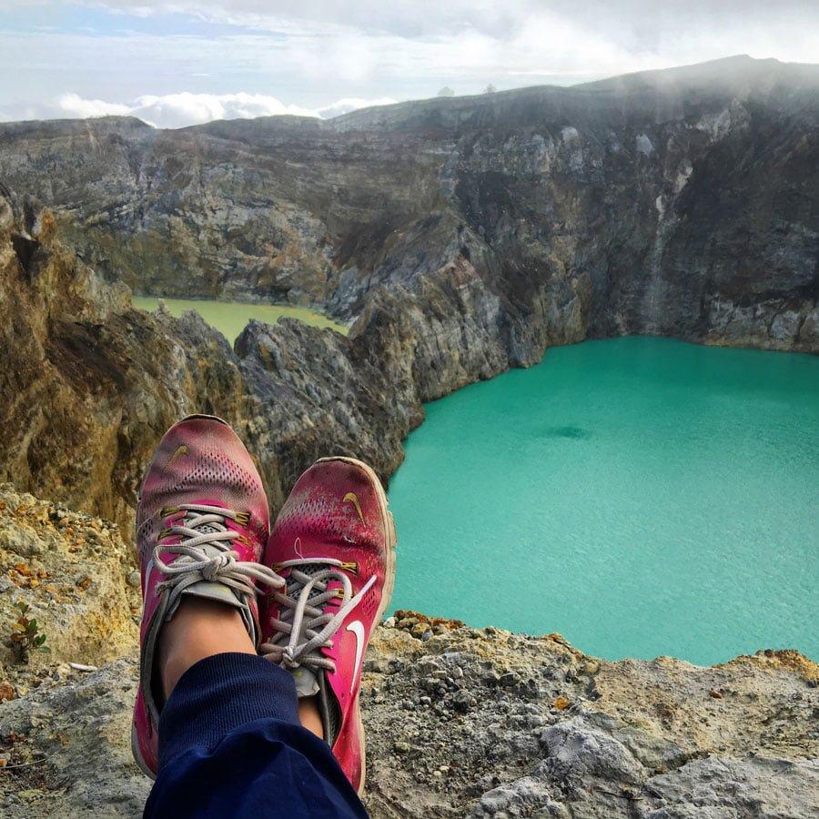 Flores Kelimutu Lake Shoes