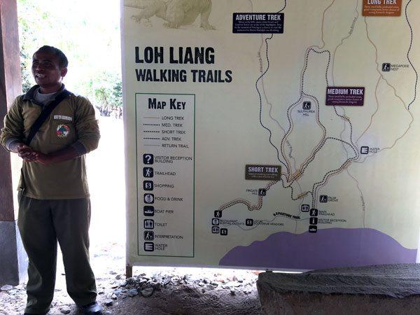 Komodo Loh Liang Trek Map