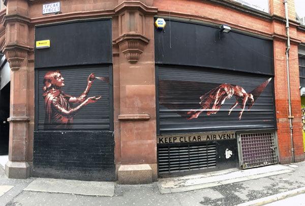 Manchester Street Art TankPetrol Levitate