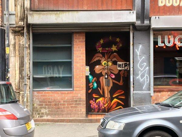 Manchester Street Art WileECoyote