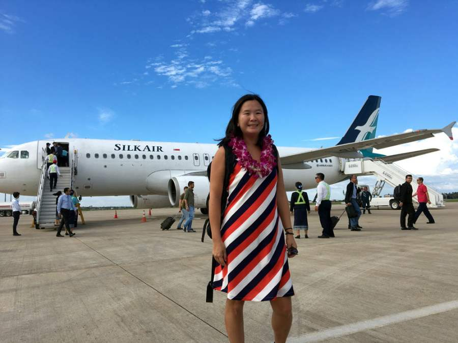Laos Silkair Inaugural Flight Me L