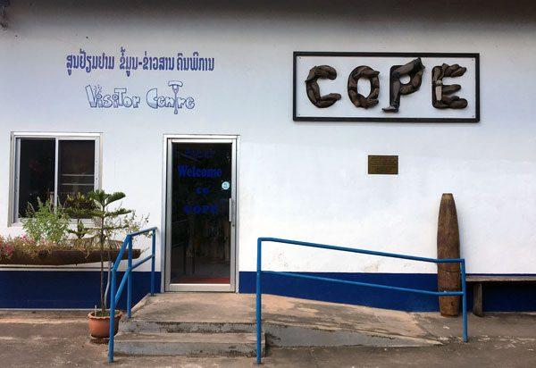 Laos Vientiane Cope Entrance