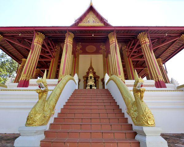Laos Vientiane Ho Phra Keo Stairs