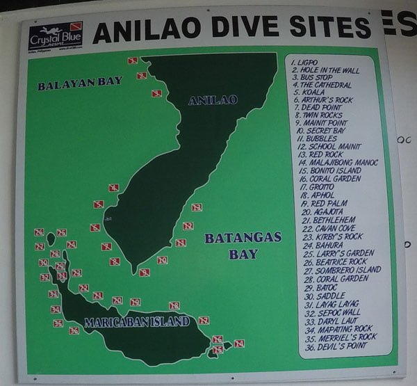 Philippines Anilao Crystal Blue Resort Dive Sites