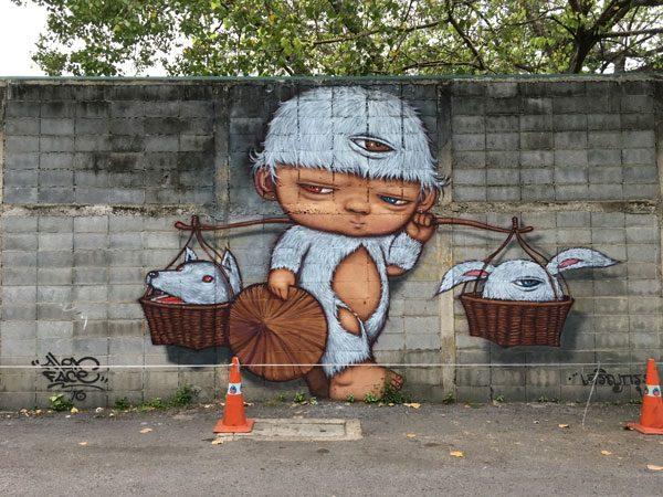 Bangkok Street Art CKR soi 32 alexface