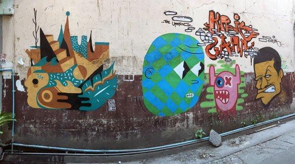 Bangkok Street Art Chalerma Park Streets 1