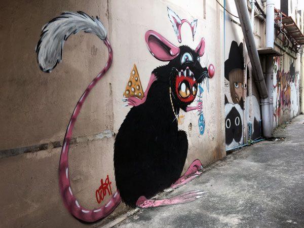 Bangkok Street Art CKR Rat