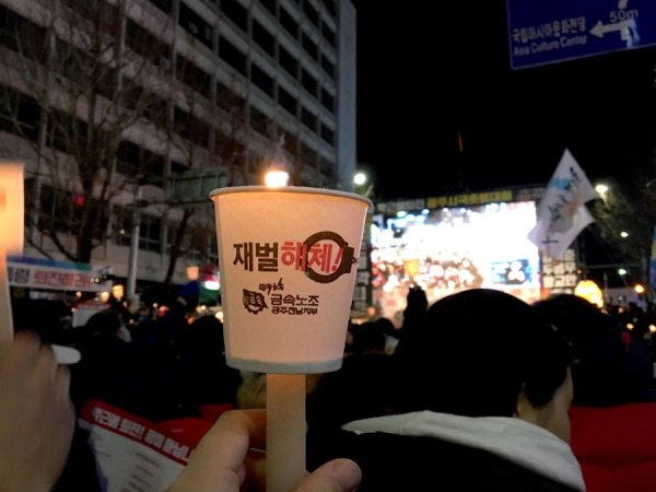 Gwangju Protest Candle