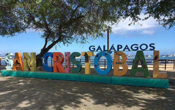 Galapagos San Cristobal Sign